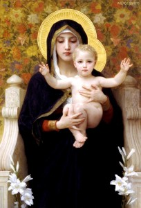 The Virgin of the Lilies, Bouguereau