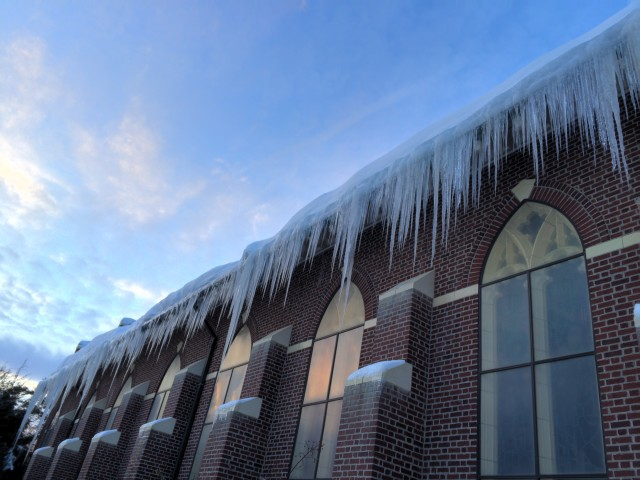 Icicles on Blessed Sacrament Church